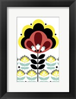 Framed Nordic Flowers V