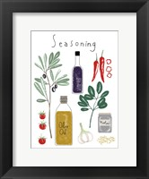 Seasoning Framed Print