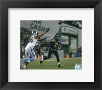 Framed Russell Wilson 2014 Playoff Action