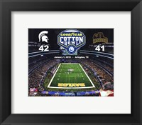 Framed Michigan State Spartans Cotton Bowl Champions