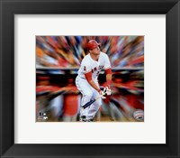 Framed Mike Trout Motion Blast