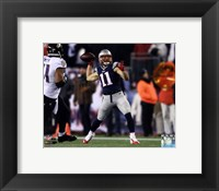 Framed Julian Edelman Touchdown Pass 2014 Playoff Action