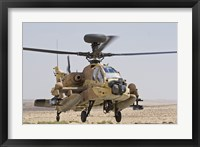 Framed AH-64D Saraf attack helicopter of the Israeli Air Force