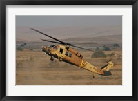 Framed UH-60L Yanshuf helicopter of the Israeli Air Force