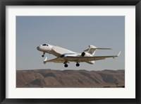 Framed Gulfstream Nachshon-Eitam of the Israeli Air Force taking off