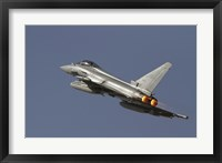 Framed Eurofighter Typhoon of the italian air force