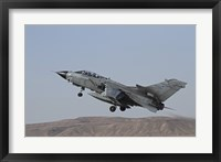 Framed Panavia Tornado of the Italian Air Force taking off