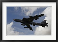 Framed B-52 Stratofortress heavy bomber of the US Air Force