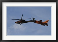 Framed F-16 Falcon and AH-64 Apache from the Royal Netherlands Air Force