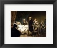 Framed President George Washington on his Deathbed