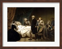 Framed President George Washington on his Deathbed
