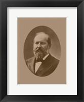 Framed President James Garfield