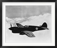 Framed World War II  P-40 Fighter Plane