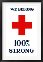 Framed Red Cross - We Belong