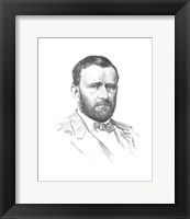 Framed General Ulysses S Grant (vitage Civil War portrait)