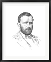 Framed General Ulysses S Grant (vitage Civil War portrait)