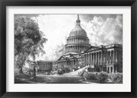 Framed US Capitol Building (digitally restored)
