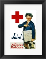 Framed Join the American Red Cross