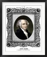 Framed President John Adams (color portrait)
