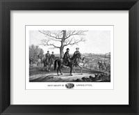 Framed Generals Robert E Lee and Ulysses S Grant