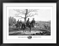 Framed Generals Robert E Lee and Ulysses S Grant