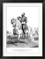 Framed President James Garfield on Horseback