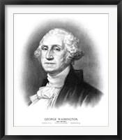 Framed Bust of President George Washington