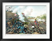 Framed Battle of Franklin (vintage Civil War)