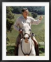 Framed Ronald Reagan on Horseback (color photo)