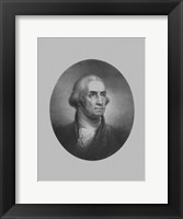 Framed President George Washington (vintage bust)