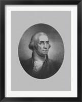 Framed President George Washington (vintage bust)