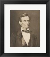 Framed President Abraham Lincoln (Vintage Civil War Photo)