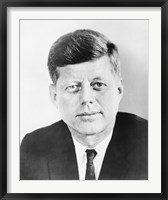 Framed President John F Kennedy (vintage photo)