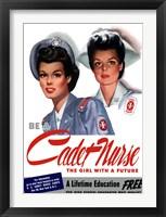 Framed Be a Cadet Nurse