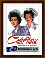 Framed Be a Cadet Nurse