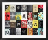Death Skulls Framed Print