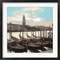 Framed Campanile Vista with Gondolas