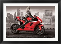 Framed Marilyn's Motorcycle