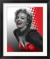 Framed Marilyn Red