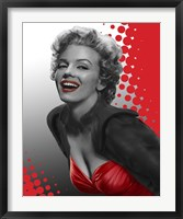 Framed Marilyn Red