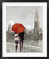 Modern Couple in NY Framed Print