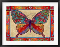Framed Mosaic Butterfly