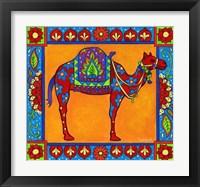 Framed Mosaic Camel