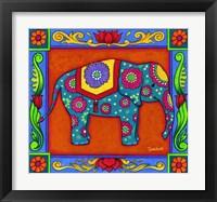 Framed Mosaic Elephant