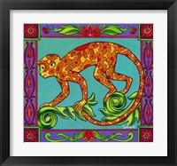 Framed Mosaic Monkey