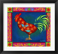 Framed Mosaic Rooster