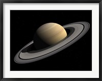 Framed Artist's concept of Saturn