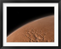 Framed Mars' Valles Marineris is Host to the Largest Canyons in the Solar System