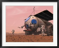 Framed Artist's Concept of How a Martian Motorhome Might be Realized