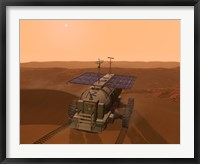 Framed Artist's Concept of a Martian Rover